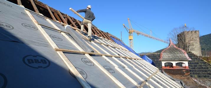 Sanierung Dach Hotel Schloss Hornberg