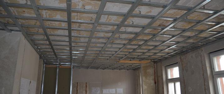 Sanierung Deckenunterkonstruktion