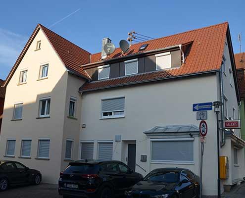 Fassaden- und Dachsanierung, Katharinenstraße in Ludwigsburg, Eglosheim