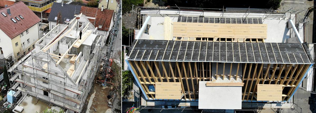 Neubauprojekt Besigheim, Dacharbeiten