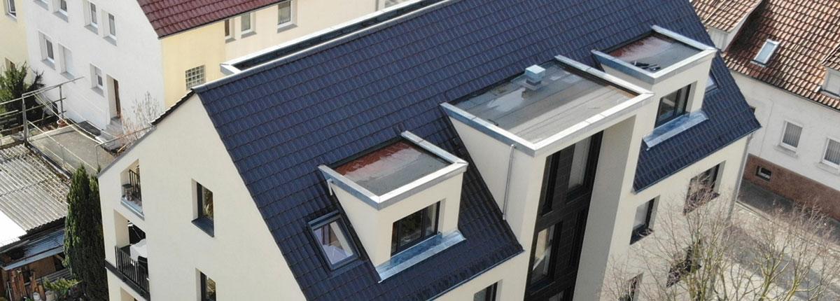 Neubauprojekt Besigheim, Dachansicht