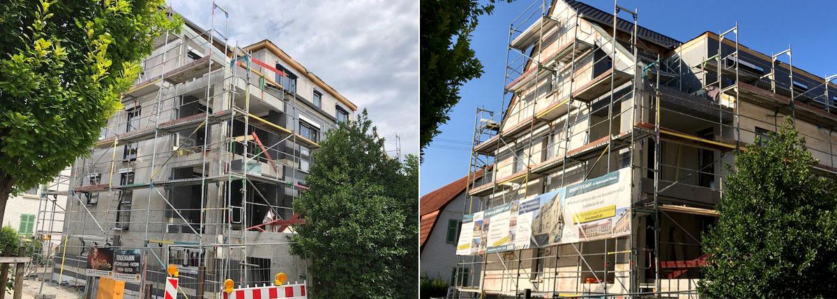 Neubauprojekt Besigheim, Fassade und Dämmung