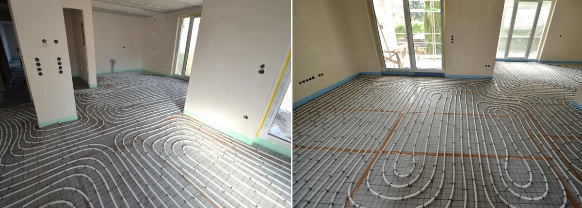 Projekt Besigheim, Fußbodenheizung Innenbereich