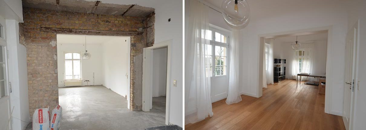 Obergeschoss Sanierung Villa Mannheim