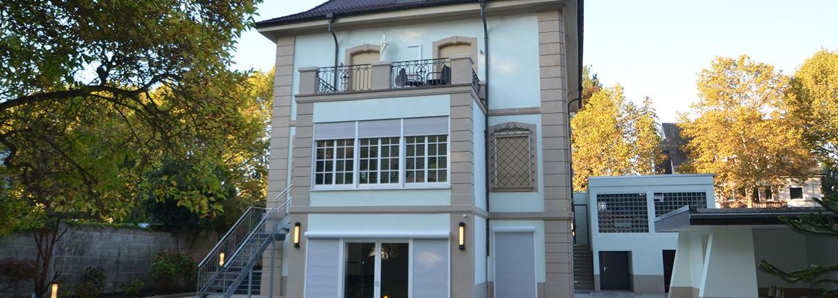 Abschluss der Bauarbeiten - Villa in Mannheim