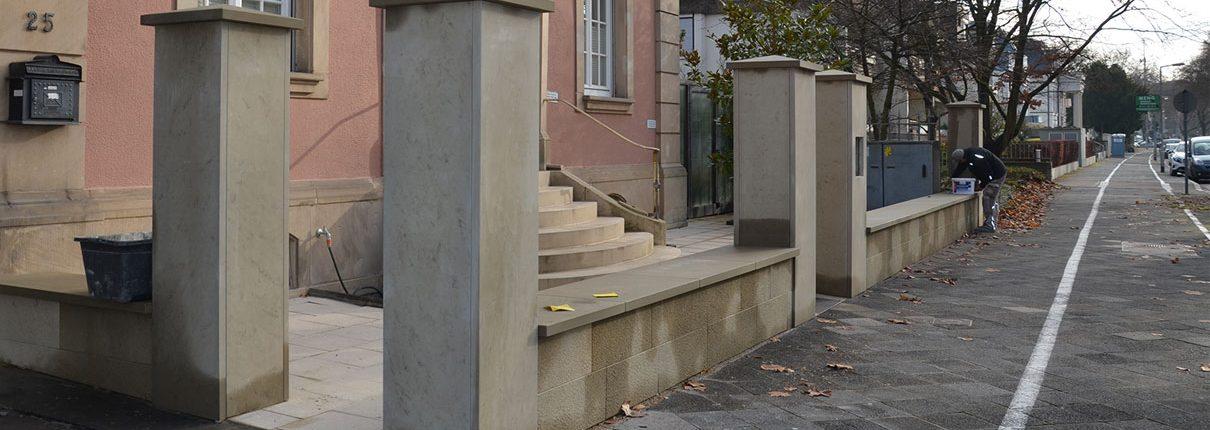 Sanierung und Umbau Villa Mannheim Zaunanlage