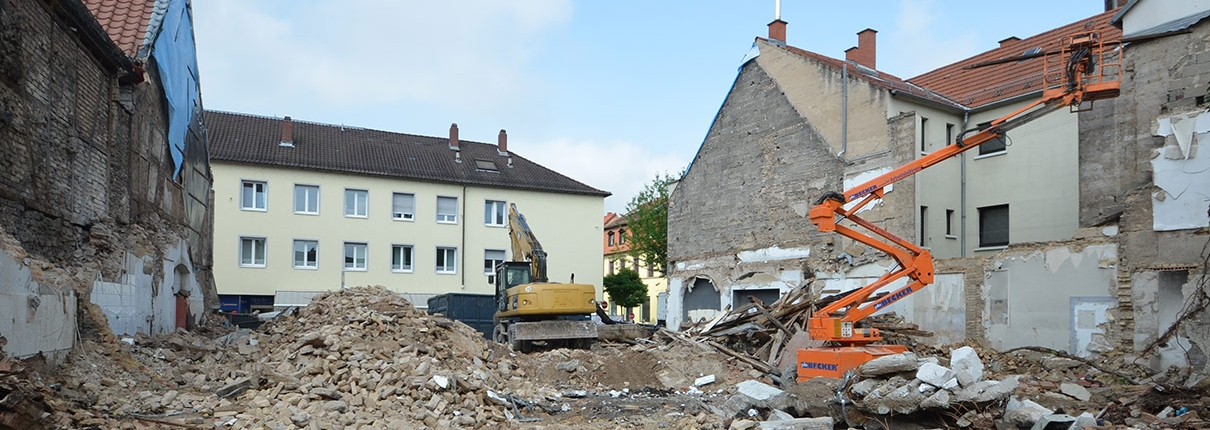 Abriss Mannheimer Straße 30 in Schwetzingen