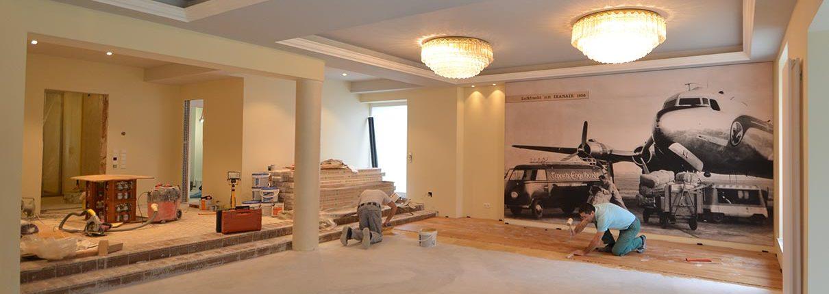 Umbau Schwimmbad in einen Veranstaltungsraum - Villa Mannheim