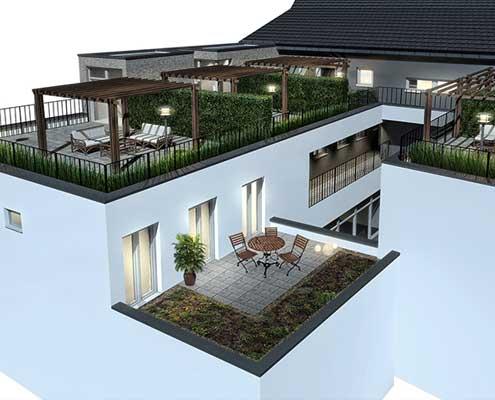 Dachterrassen Mannheimer Straße in Schwetzingen - Neubauprojekt Wohn- und Geschäftshaus