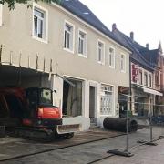 Abrissarbeiten Mannheimer Straße 30 in Schwetzingen