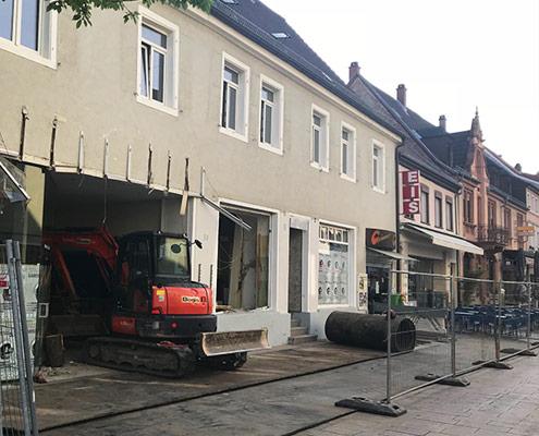 Abrissarbeiten Mannheimer Straße 30