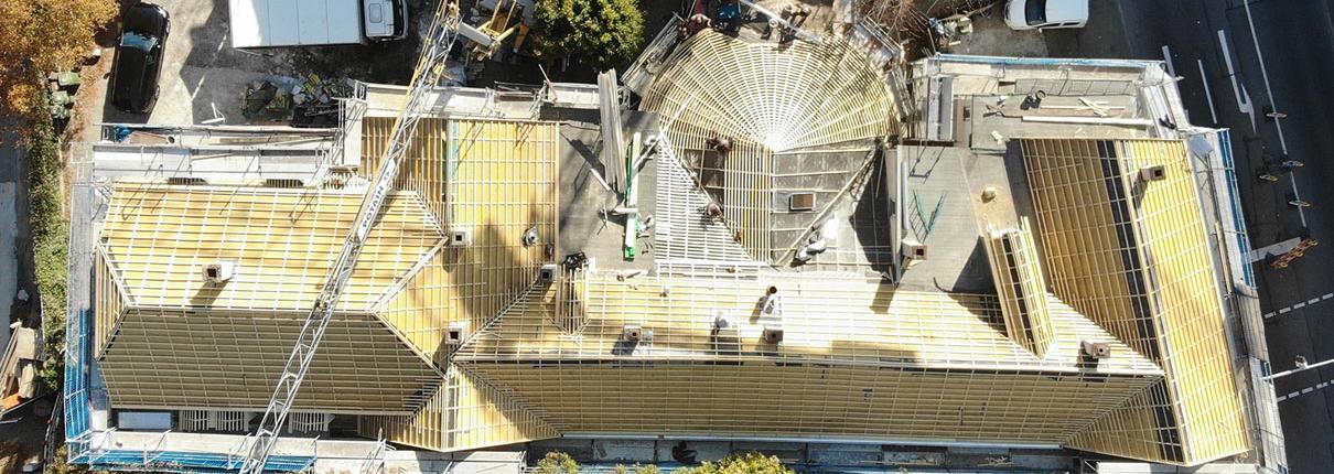 Luftaufnahme der Baustelle Asperger Straße in Ludwigsburg