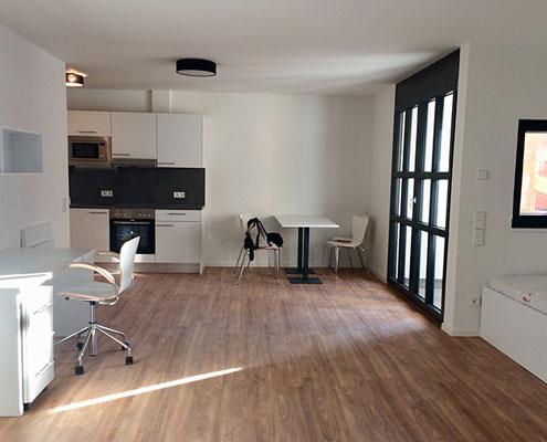 Neubau Welde, Schwetzingen - Innenausbau Studentenwohnungen