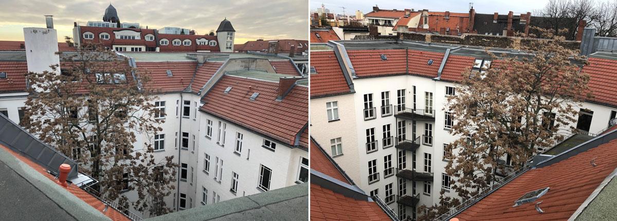 Sanierungs- und Umbauprojekt in Berlin, Aussenansicht